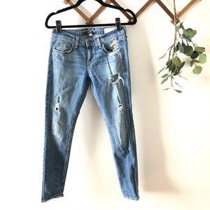 Rag & Bone Dre Light Wash Distressed Skinny Jeans
